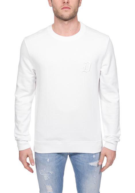 WHITE SWEATSHIRT WITH FRONT LOGO EMBROIDERY DONDUP   Sweatshirts   UF617KF0136ZD2DUS20000