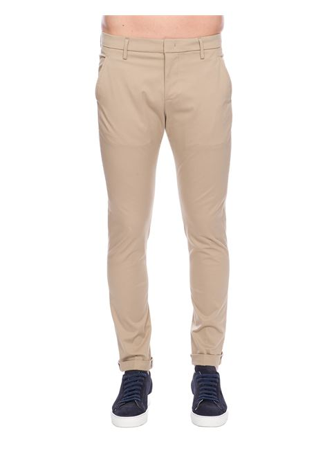 PANTALONI BEIGE GAUBERT IN GABARDINA STRETCH DONDUP | Pantaloni | UP235RS0037XXXDUS20019