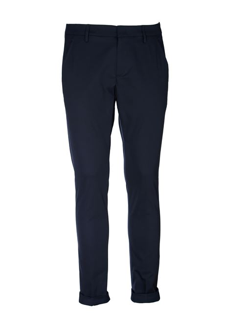 PANTALONI BLU GAUBERT IN GABARDINA STRETCH DONDUP | Pantaloni | UP235RS0037XXXDUS20897
