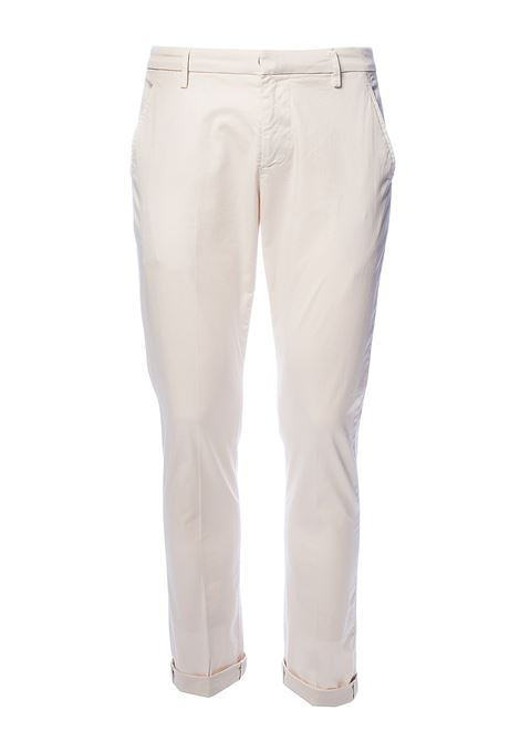 PANTALONI BEIGE GAUBERT IN GABARDINA STRETCH DONDUP | Pantaloni | UP235RSE036PTDDUS20005
