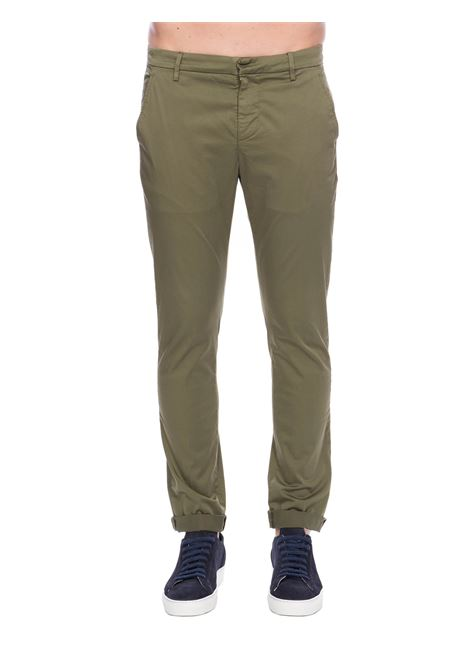 PANTALONI VERDE GAUBERT IN COTONE STRETCH DONDUP | Pantaloni | UP235RSE036PTDDUS20633