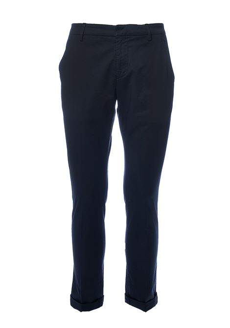 PANTALONI BLU GAUBERT IN GABARDINA STRETCH DONDUP | Pantaloni | UP235RSE036PTDDUS20890