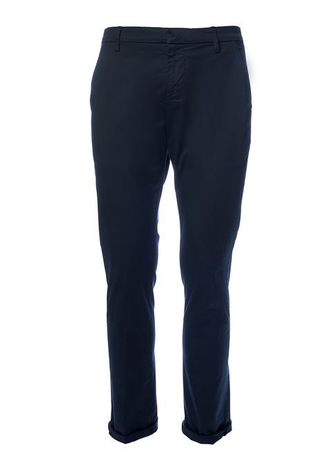 PANTALONI BLU GAUBERT IN GABARDINA STRETCH DONDUP | Pantaloni | UP235RSE036PTDDUS20897