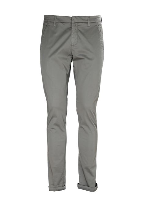 PANTALONI GRIGIO GAUBERT IN GABARDINA STRETCH DONDUP | Pantaloni | UP235RSE036PTDDUS20903