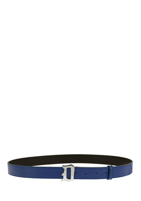 COBALT LEATHER BELT DONDUP | Belts | XC116Y00425ZD3DUS20897