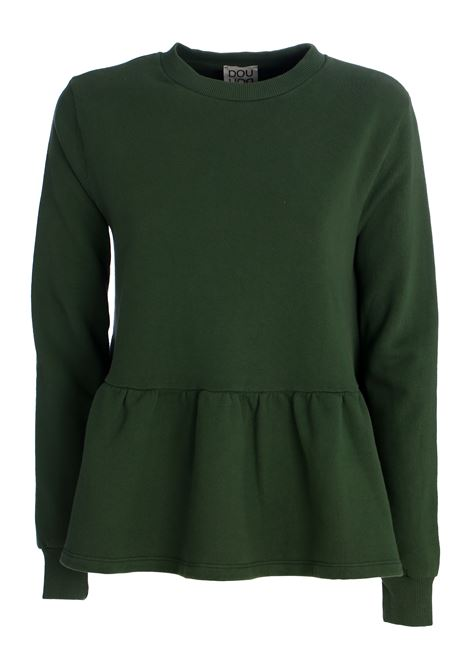 BEATRICE GREEN COTTON SWEATSHIRT DOU DOU | Sweatshirts | 20SMDDFW000022021