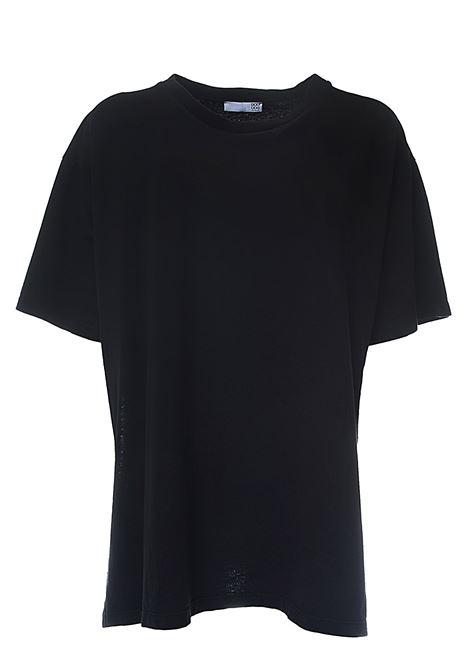 T-SHIRT NERA IN COTONE CON STAMPA MINI LOGO SUL RETRO DOU DOU | T-shirt | ALINEDDTW000059000