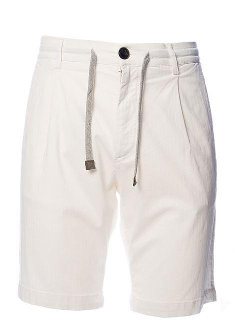 WHITE COTTON BERMUDA ELEVENTY | Bermuda Shorts | A70BERA01TET0A02301