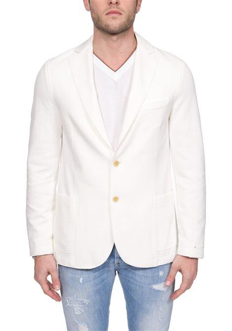 WHITE SINGLE-BREASTED COTTON JACKET ELEVENTY | Jackets | A70GIAA01JAC2500101