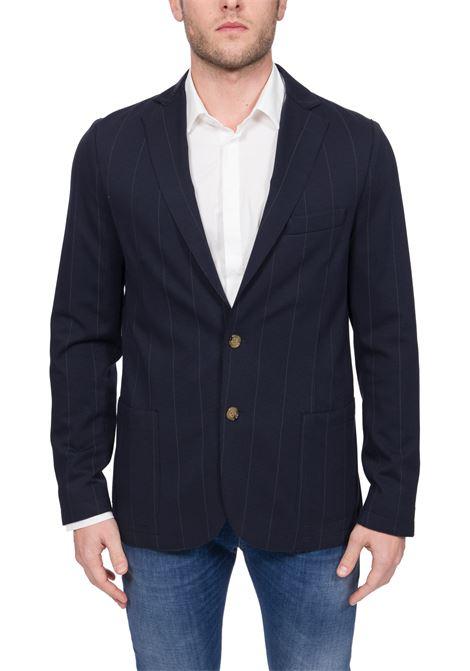 BLUE SINGLE-BREASTED COTTON JACKET ELEVENTY | Jackets | A70GIAA01TES0A09111