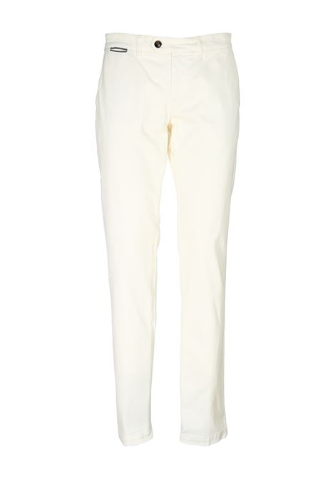 WHITE COTTON TROUSERS ELEVENTY | Pants | A75PANA04TET0A00101