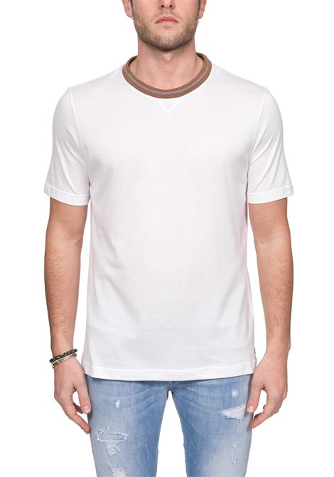 WHITE T-SHIRT IN PLATINUM COTTON ELEVENTY |  | A75TSHA02JER0A00501N