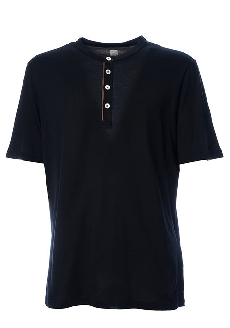 BLUE COTTON PLATINUM SPECIAL COLLECTION T-SHIRT ELEVENTY | T-shirt | A75TSHA04JER0A00611