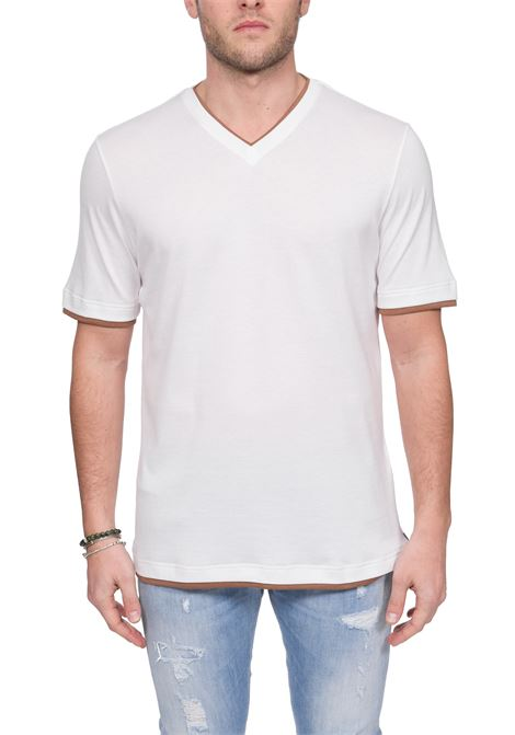 WHITE PLATINUM COTTON T-SHIRT ELEVENTY | T-shirt | A75TSHA06JER0A00601N