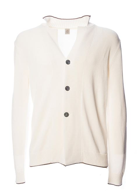 WHITE CARDIGAN IN COTTON PLATINUM LINE ELEVENTY | Cardigans | A76GIAA04MAG0A03601