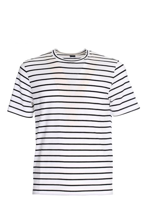 LIGHTWEIGHT COTTON STRIPED T-SHIRT FEDELI | T-shirt | 3UE0E267E/36