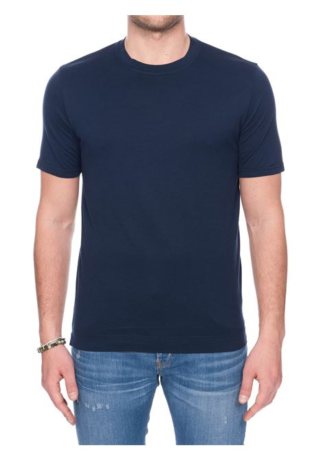BLUE COTTON JERSEY T-SHIRT FEDELI |  | 3UED0103626