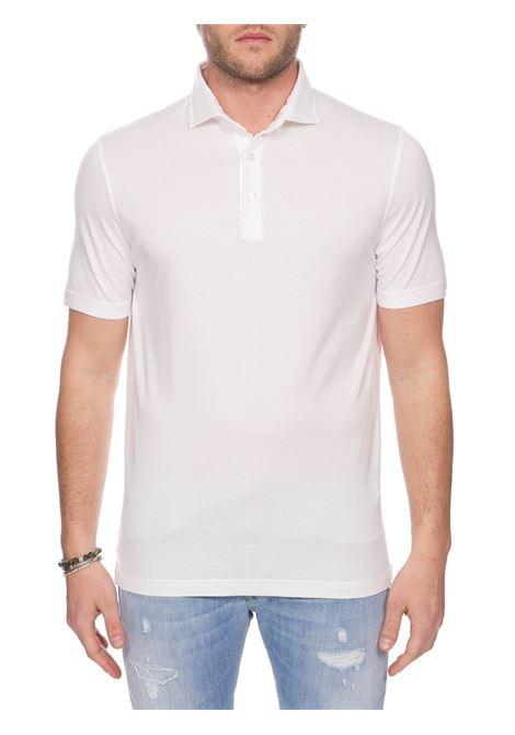 WHITE COTTON JERSEY POLO FEDELI | Polo Shirts | 3UED011041