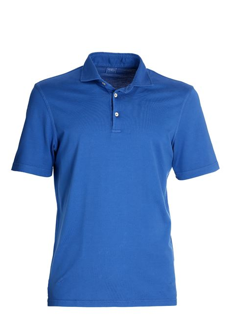 BLUE COTTON JERSEY POLO FEDELI | Polo Shirts | 3UED0110525