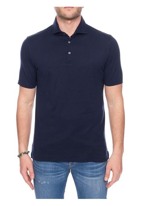BLUE COTTON JERSEY POLO FEDELI | Polo Shirts | 3UED0110626