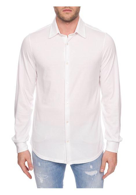 WHITE COTTON JERSEY SHIRT FEDELI | Shirts | 3UEF011941