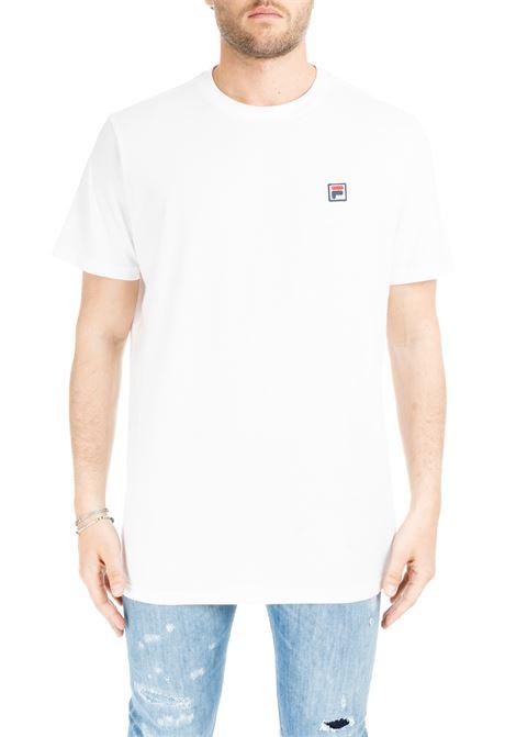 T-SHIRT BIANCA IN COTONE  CON MINI PATCH LOGO FILA | T-shirt | 682393M67