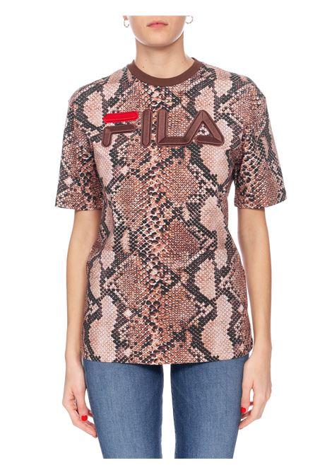 PYTHON PRINTED COTTON T-SHIRT FILA | T-shirt | 684624A550