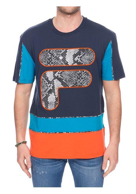 T-SHIRT BLU CON STAMPA LOGO FRONTALE FILA | T-shirt | 684633A566