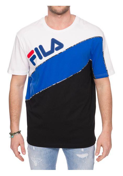 T-SHIRT MULTICOLOR CON LOGO IN GOMMA FRONTALE FILA | T-shirt | 684634A563