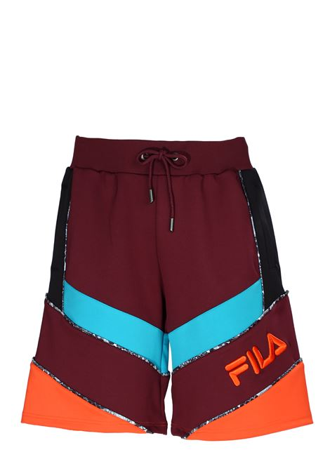 MULTICOLOR SHORTS WITH FRONT LOGO EMBROIDERY FILA | Bermuda Shorts | 684639A567