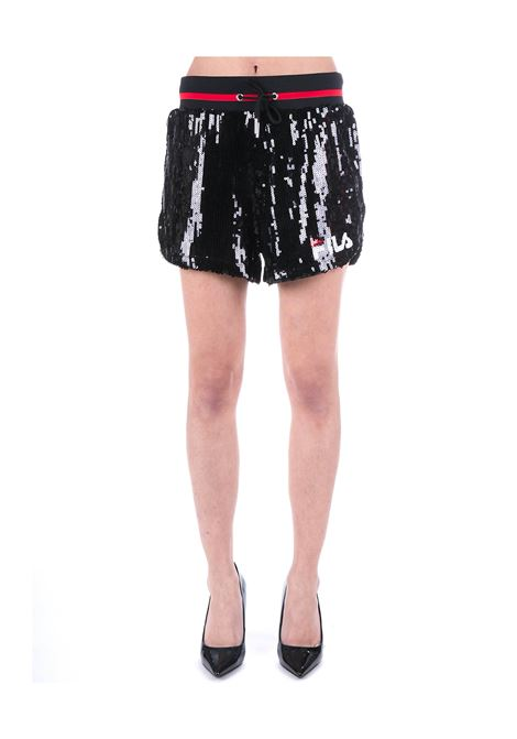 BLACK SHORT KIKU IN PAILLETTES FILA | Shorts | 684643002