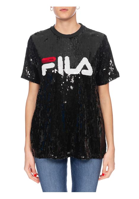 BLACK T-SHIRT FULL PAILLETTES FILA | T-shirt | 684644002