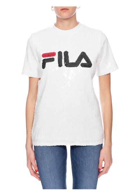 WHITE T-SHIRT FULL PAILLETTES FILA | T-shirt | 684644M67