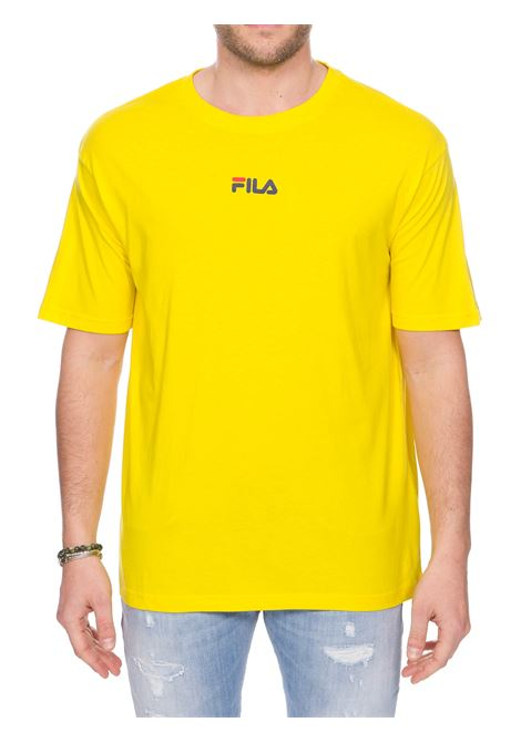 T-SHIRT GIALLA IN COTONE CON LOGO FRONTE RETRO FILA | T-shirt | 687484V51