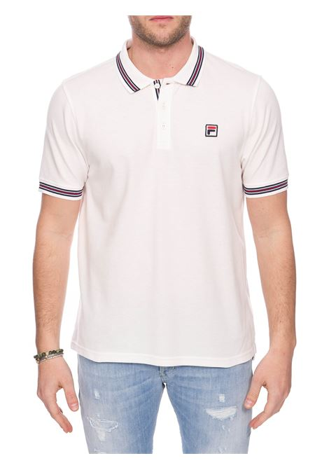 WHITE COTTON POLO WITH FRONT LOGO EMBROIDERY FILA |  | 687656F50