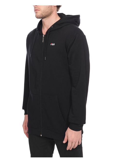 BLACK SWEATSHIRT WITH FRONT LOGO EMBROIDERY FILA | Sweatshirts | 688165002