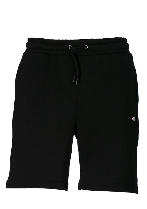 BLACK COTTON JUMPSUIT SHORTS FILA | Bermuda Shorts | 688167002