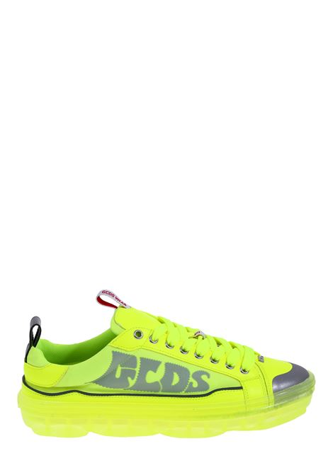 SNEAKERS IN FABRIC AND LEATHER YELLOW FLUO GCDS | Sneakers | SS20M01000443