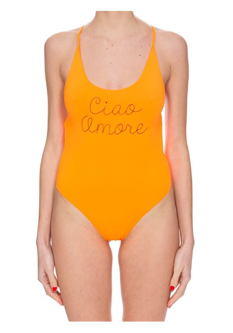 ORANGE ONE-PIECE SWIMSUIT WITH FRONT EMBROIDERY GIADA BENINCASA | Swimsuits | E0403SS4
