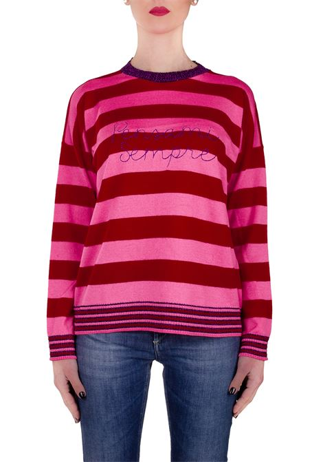 MULTICOLOR SWEATER IN MERINOS WOOL WITH EMBROIDERY ALWAYS THINK GIADA BENINCASA | Sweaters | P0520VA4