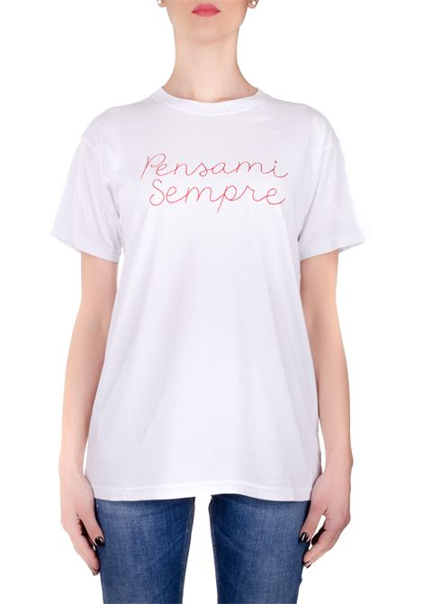 ALWAYS THINK WHITE COTTON T-SHIRT GIADA BENINCASA | T-shirt | P0802BTS1