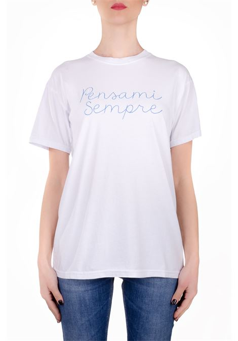 ALWAYS THINK WHITE COTTON T-SHIRT GIADA BENINCASA | T-shirt | P0802BTS6