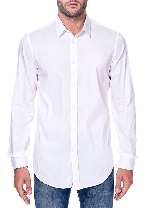 WHITE COTTON SHIRT GRIFONI | Shirts | GG120001/32004