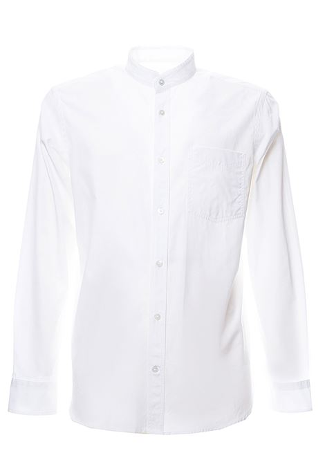 WHITE COTTON SHIRT WITH KOREAN COLLAR GRIFONI | Shirts | GG120013/8001
