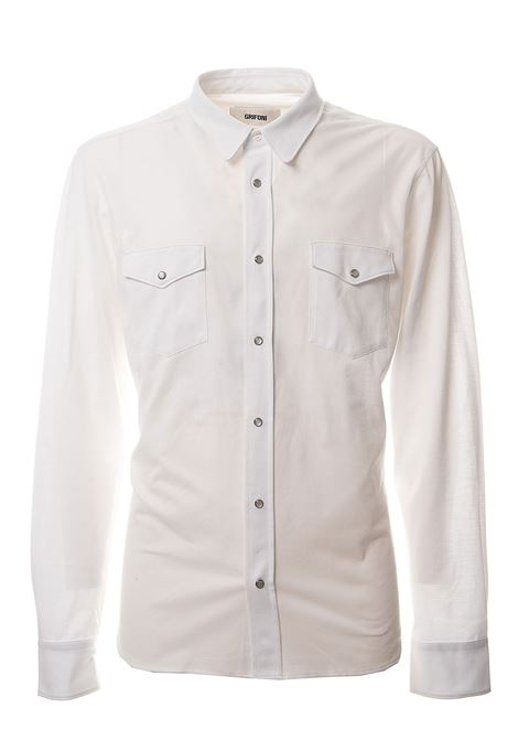 WHITE COTTON SHIRT GRIFONI | Shirts | GG120026/6001
