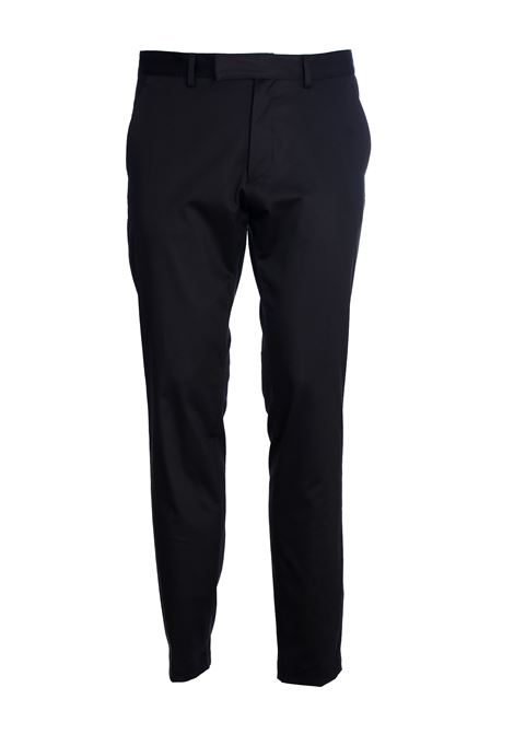 BLACK CHINO COTTON TROUSERS GRIFONI | Pants | GG140010/27003