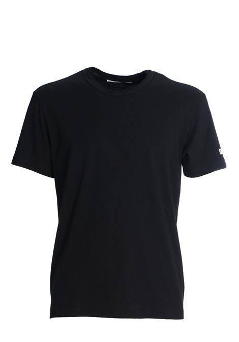 BLACK COTTON T-SHIRT GRIFONI | T-shirt | GG180003/51003