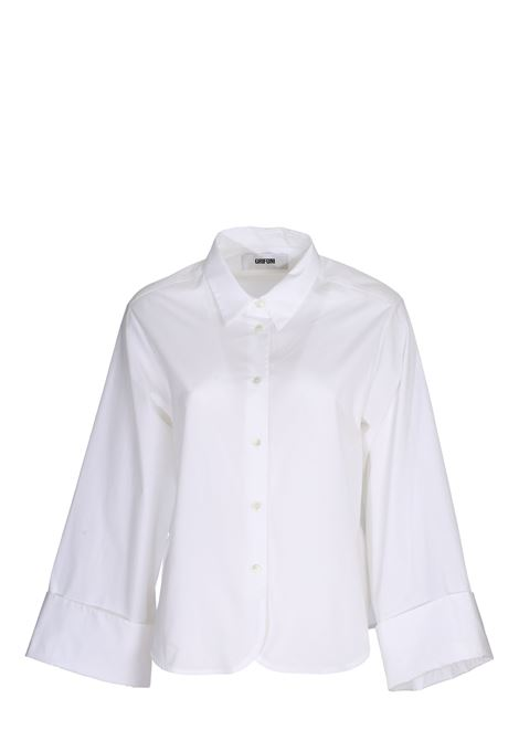 WHITE COTTON POPLIN SHIRT GRIFONI | Shirts | GG220010/1001