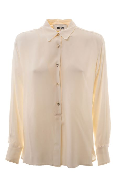 WHITE SHIRT IN MIXED SILK GRIFONI | Shirts | GG220017/110045