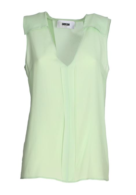 GREEN SILK BLEND TOP GRIFONI | Tops | GG220018/111630